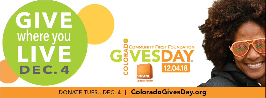 Remember ULF Colorado on Colorado Gives Day. December 4th, 2018.